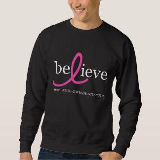 Believe Breast Cancer Ribbon Sweatshirt