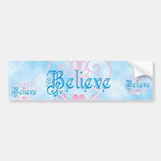 Believe Car Bumper Sticker