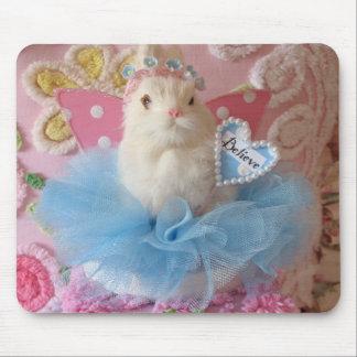 Believe bunny mousepad
