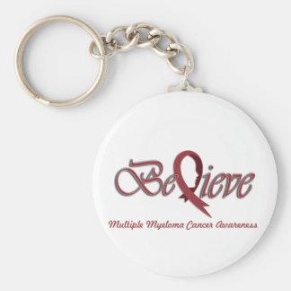 "Believe ""Burgundy - Gift Items"" Basic Round Button Key Ring"