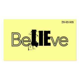 BeLIEve Business Cards