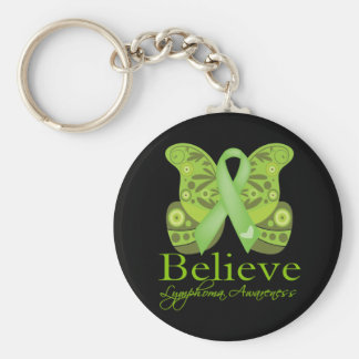Believe Butterfly -  Lymphoma Awareness Key Chains