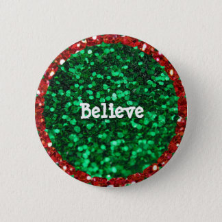 """Believe"" Christmas button"