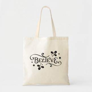 """Believe"" Christmas Holiday Tote"