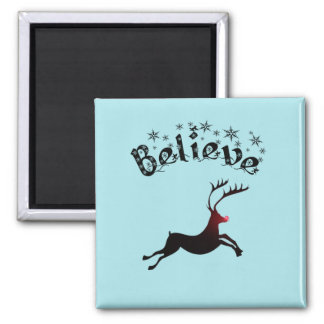 Believe Christmas magnet