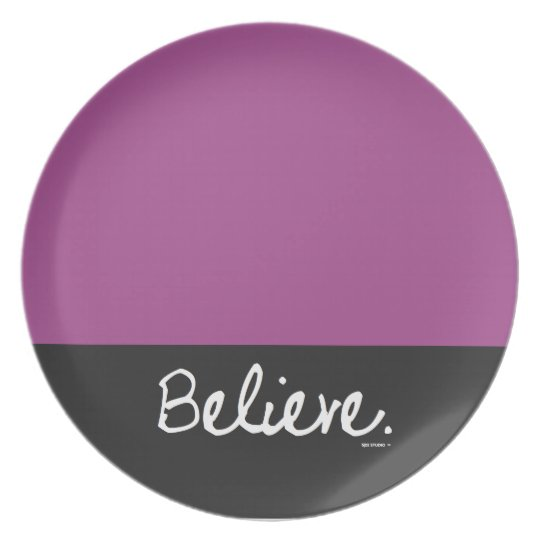 Believe Colour Block Plate