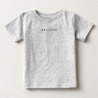 Believe - Cool Modern Baby T-Shirt