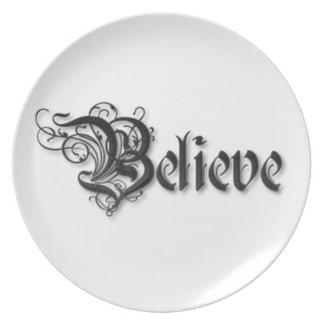 Believe Design 2 Plates