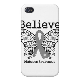 Believe Diabetes Awareness Cover For iPhone 4
