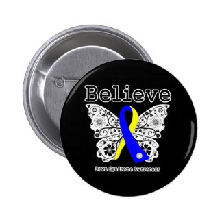 Believe Down Syndrome Awareness Pinback Buttons