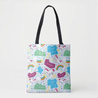 Believe, Dream Big, Imagine Unicorn Tote Bag