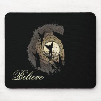 """Believe"" Fairies in the Moonlight Mousepad Gift"
