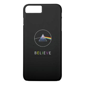 BELIEVE-Flying pig in prism iPhone 8 Plus/7 Plus Case