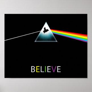 Believe-Flying Pig Prism Poster