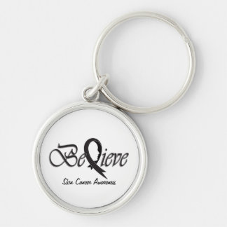 """Believe """"Gift Items"""" Silver-Colored Round Key Ring"""