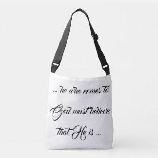 Believe God IS! Seek the Lord! Shoulder Tote Bag