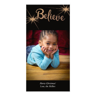 Believe Holiday Card Picture Card