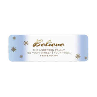 Believe. Holiday Return Address Labels