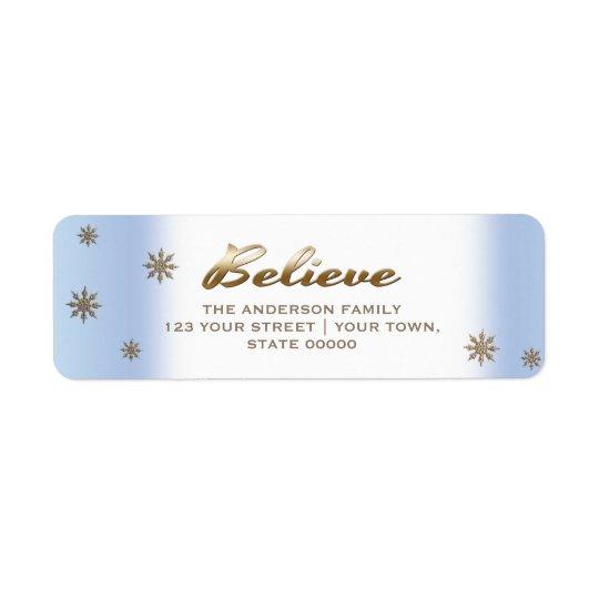 Believe. Holiday Return Address Labels
