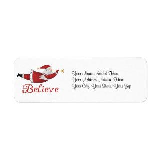 Believe Holiday Return Address Labels