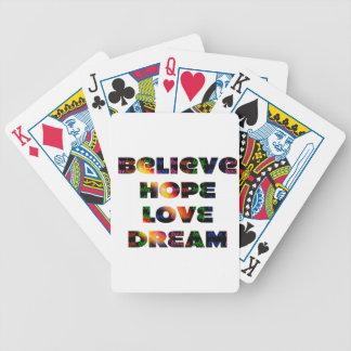 """Believe, Hope, Dream, Love"" Poker Deck"