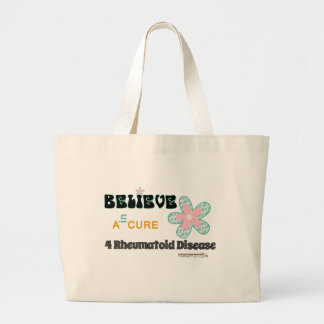 Believe in a cure large tote bag