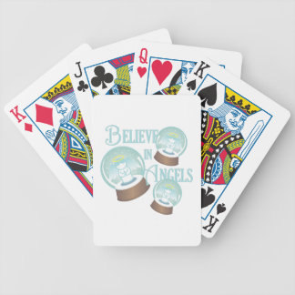 Believe In Angels Bicycle Playing Cards