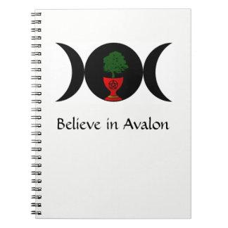 Believe in Avalon Spiral Notebook