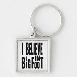Believe in BIGFOOT - Black Key Ring