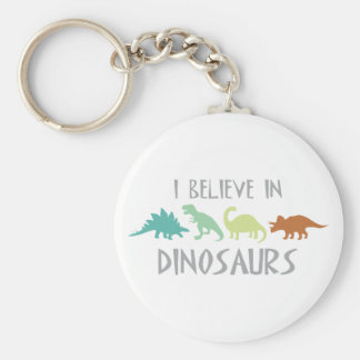 Believe in Dinosaurs Key Ring