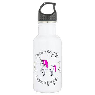 Believe in fairytales unicorn cartoon girls 532 ml water bottle