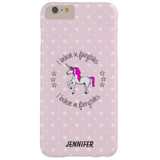 Believe in fairytales unicorn cartoon girls barely there iPhone 6 plus case
