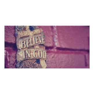 Believe in God Photo Card Template
