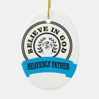 believe in God unicorn Ceramic Oval Decoration