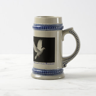 Believe in Jesus! Love Forever. Beer Steins