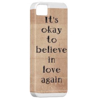Believe in love again. iPhone 5 cover