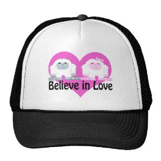 Believe in Love! Cute Yetis Hat