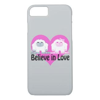Believe in Love! Cute Yetis iPhone 7 Case