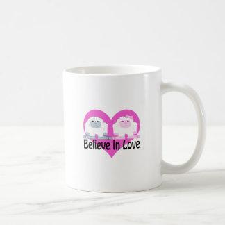 Believe in Love! Cute Yetis Coffee Mug