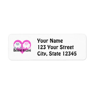 Believe in Love! Cute Yetis Return Address Label