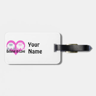 Believe in Love! Cute Yetis Travel Bag Tags