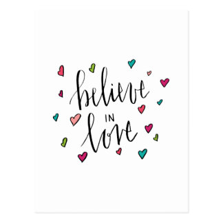Believe In Love - Heart Print Postcard