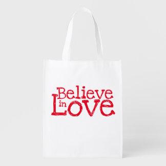 Believe In Love Reusable Grocery Bag