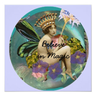 Believe in Magic invitation/notecard 13 Cm X 13 Cm Square Invitation Card