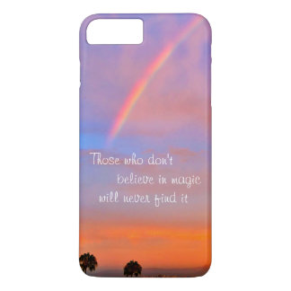 """Believe in Magic"" Quote Rainbow Sunrise Photo iPhone 8 Plus/7 Plus Case"