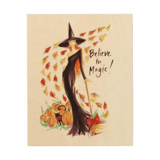 BELIEVE IN MAGIC WOOD WALL ART