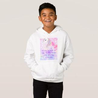 'Believe in me' Cute girls Unicorn Love hoodie