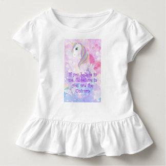 'Believe in me' Cute toddler Unicorn Love t shirt