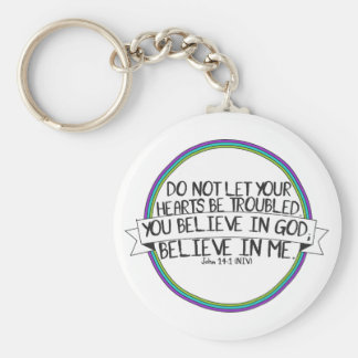 Believe In Me (John 14:1 NIV) Key Ring