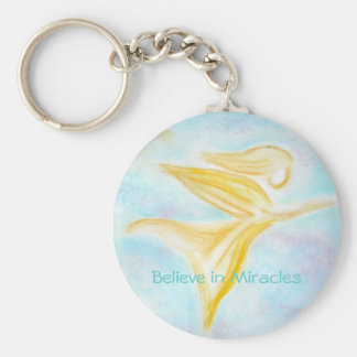 Believe in Miracles keychain